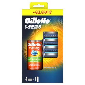 Gillette Fusion5 ProGlide Ostrza wymienne do maszynki x 4 + 75ml Żel