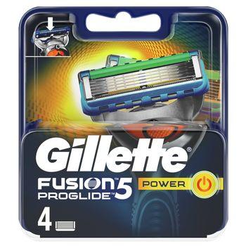 Gillette Fusion5 ProGlide Power Ostrza Wymienne do Maszynki dla Mężczyzn, 4Sztuki