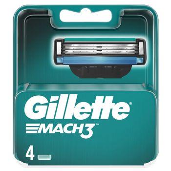 Gillette Mach3 Ostrza wymienne do maszynki do golenia dla mężczyzn, 4 sztuki