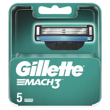 Gillette Mach3 Ostrza wymienne do maszynki do golenia dla mężczyzn, 5 sztuki