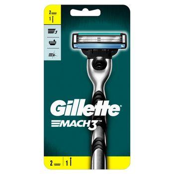 Gillette Mach3 Rączka maszynki do golenia + 2ostrza wymienne