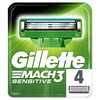Gillette Mach3 Sensitive Ostrza wymienne do maszynki x 4