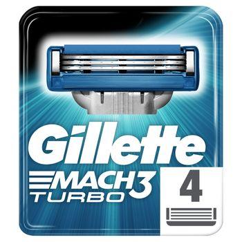 Gillette Mach3 Turbo Ostrza wymienne do maszynki, 4 sztuki