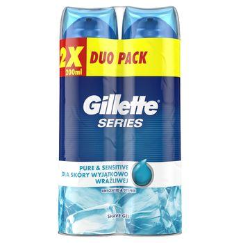 Gillette Series Pure & Sensitive Żel do golenia 2x200ml