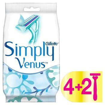 Gillette Simply Venus 2 Maszynki jednorazowe do golenia, 4+2sztuki