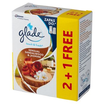 Glade Touch & Fresh Sensual Sandalwood & Jasmine Zapas do odświeżacza powietrza 3 x 10 ml
