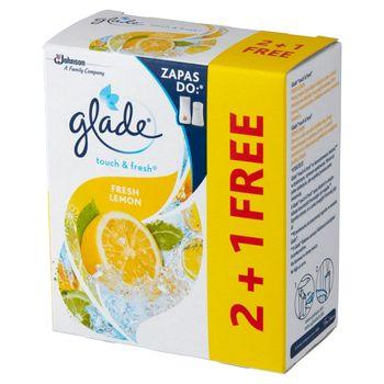 Glade Touch & Fresh Fresh Lemon Zapas do odświeżacza powietrza 3 x 10 ml