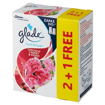 Glade Touch & Fresh Luscious Cherry & Peony Zapas do odświeżacza powietrza 3 x 10 ml