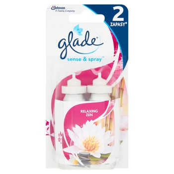 Glade Sense & Spray Relaxing Zen Zapas do automatycznego odświeżacza powietrza 2 x 18 ml