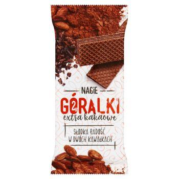 Góralki extra kakaowe Ciemny wafelek z kremowym nadzieniem kakaowym 42 g