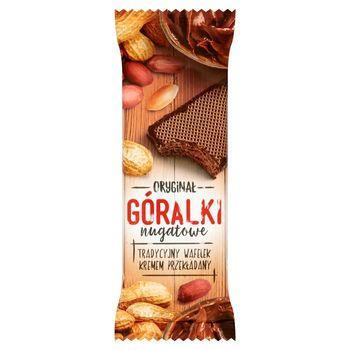 Góralki nugatowe Wafelki z kremowym nadzieniem w polewie kakaowej 50 g