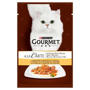 Gourmet A la Carte Karma dla kotów z indykiem w bukiecie z jarzyn 85 g