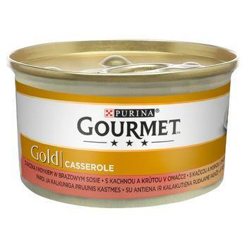Gourmet Gold Karma dla kotów casserole z kaczką i indykiem w sosie 85 g