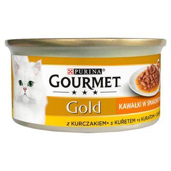 Gourmet Gold Karma dla kotów kawałki w smakowitym sosie z kurczakiem 85 g