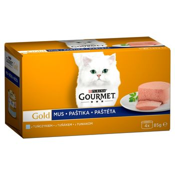 Gourmet Gold Karma dla kotów kolekcja musów z tuńczykiem 340 g (4 x 85 g)