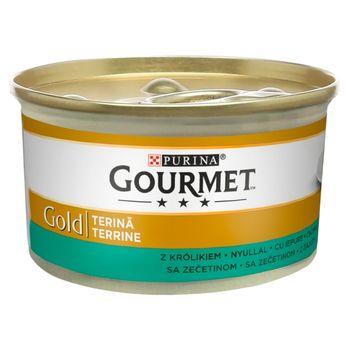 Gourmet Gold Karma dla kotów pasztet z kawałkami królika 85 g