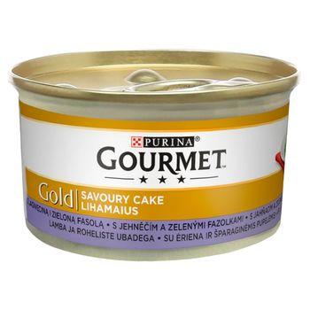 Gourmet Gold Karma dla kotów savoury cake z jagnięciną i zieloną fasolą 85 g