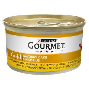 Gourmet Gold Karma dla kotów savoury cake z kurczakiem i marchewką 85 g