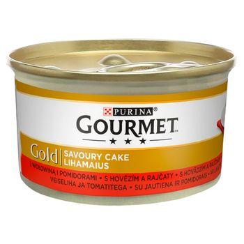 Gourmet Gold Karma dla kotów savoury cake z wołowiną i pomidorami 85 g