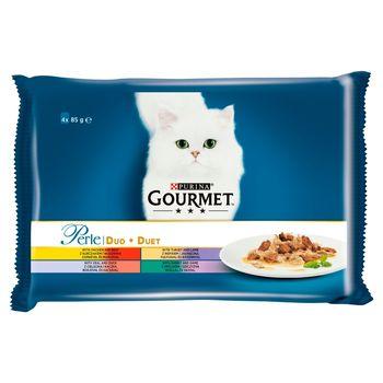 Gourmet Perle Karma dla kotów kolekcja duet mięsny 340 g (4 x 85 g)