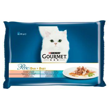 Gourmet Perle Karma dla kotów kolekcja duet rybny 340 g (4 x 85 g)