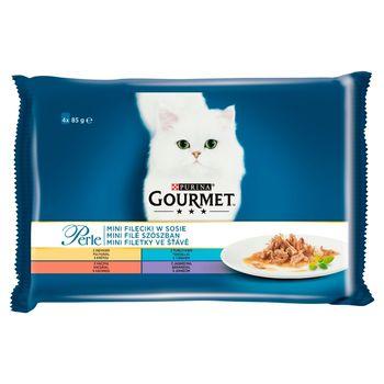 Gourmet Perle Karma dla kotów kolekcja mini filecików w sosie 340 g (4 x 85 g)