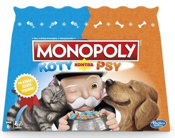HASBRO Gra ekonomiczna Monopoly Koty kontra Psy E5793