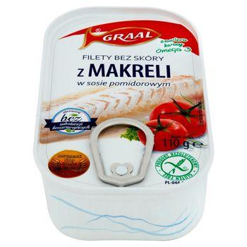 GRAAL Filety bez skóry z makreli w sosie pomidorowym 110 g