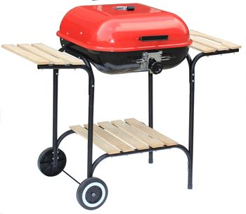 Grill Węglowy Activa Prostokątny wózek z pokrywą 46 cm