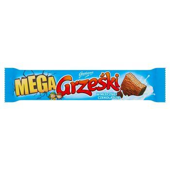 Grześki Mega Wafel przekładany kremem kakaowym w czekoladzie mlecznej 48 g