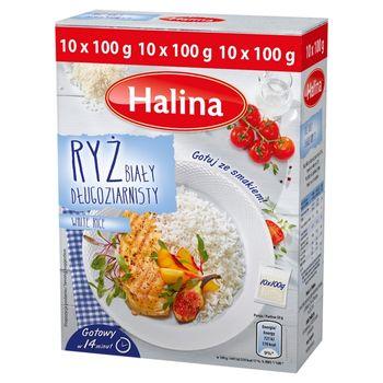 Halina Ryż biały długoziarnisty 1 kg (10 torebek)
