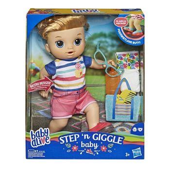 Hasbro - Baby Alive Lalka Świecące buciki Chłopiec Blondyn E5244