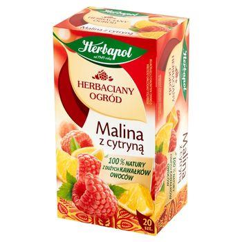 Herbapol Herbaciany Ogród Herbatka owocowo-ziołowa malina z cytryną 54 g (20 x 2,7 g)