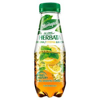 Herbapol na zimno Herbata zielona cytryna & mięta 300 ml