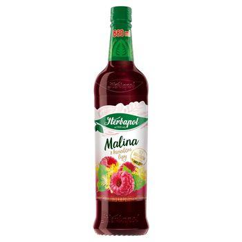 Herbapol Suplement diety syrop o smaku malinowym z wyciągiem z kwiatu lipy 680 ml