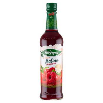 Herbapol Suplement diety syrop o smaku malinowo-żurawinowym 420 ml