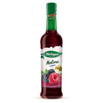 Herbapol Syrop owocowy o smaku malinowo-jeżynowym 420 ml