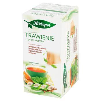 Herbapol Trawienie + praca wątroby Suplement diety herbatka ziołowa 40 g (20 x 2 g)