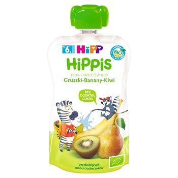 HiPP BIO HiPPiS Mus owocowy po 6. miesiącu gruszki-banany-kiwi 100 g