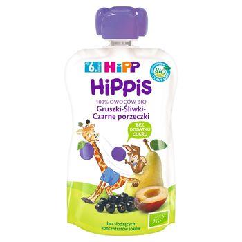 HiPP BIO HiPPiS Mus owocowy po 6. miesiącu gruszki-śliwki-czarne porzeczki 100 g