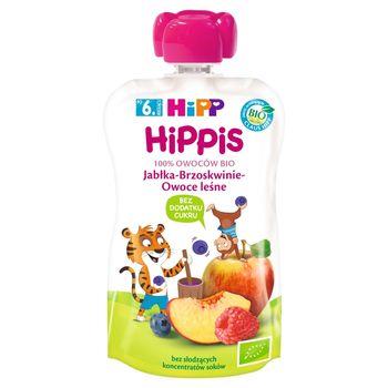 HiPP BIO HiPPiS Mus owocowy po 6. miesiącu jabłka-brzoskwinie-owoce leśne 100 g