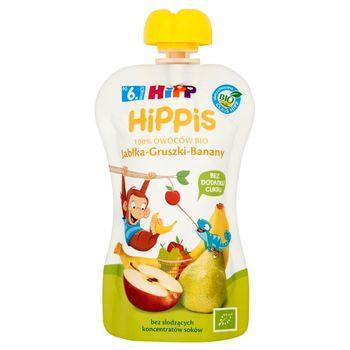 HiPP BIO HiPPiS Jabłka-Gruszki-Banany Mus owocowy po 6. miesiącu 100 g