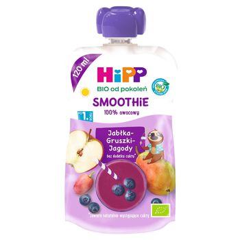 HiPP BIO Smoothie Mus z owoców i soków po 1. roku jabłka-gruszki-jagody 120 ml