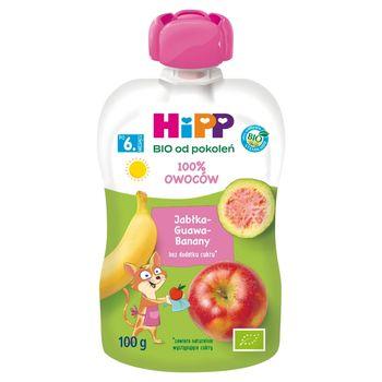 HiPP BIO Mus owocowy 100% owoców po 6. miesiącu jabłka-guawa-banany 100 g