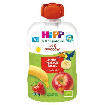 HiPP BIO Mus owocowy 100% owoców po 6. miesiącu jabłka-truskawki-banany 100 g