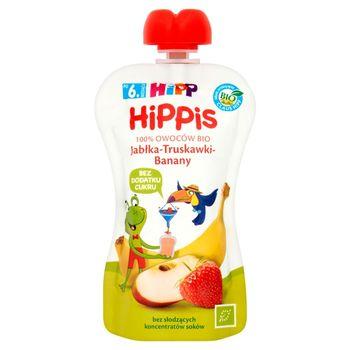 HiPP BIO HiPPiS Jabłka-Truskawki-Banany Mus owocowy po 6. miesiącu 100 g