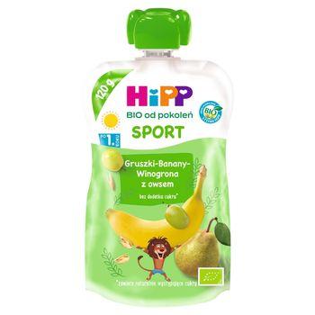 HiPP BIO Sport Mus owocowy po 1. roku gruszki-banany-winogrona z owsem 120 ml