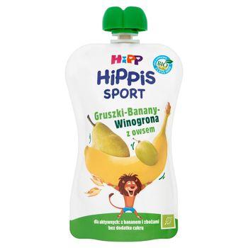 HiPP BIO HiPPiS Sport Gruszki-Banany-Winogrona z owsem Mus owocowy po 1. roku 120 g