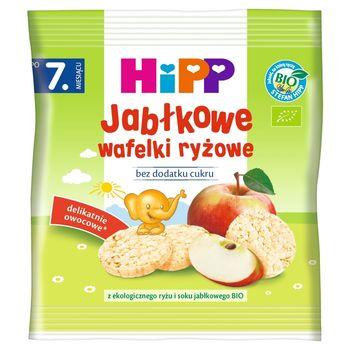 HiPP BIO Wafelki ryżowe po 7. miesiącu jabłkowe 30 g