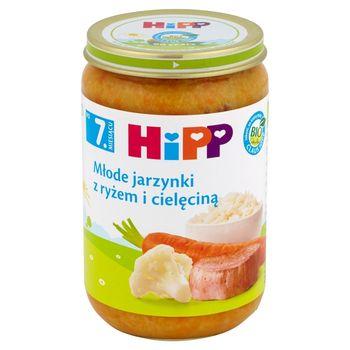 HiPP BIO Młode jarzynki z ryżem i cielęciną po 7. miesiącu 220 g